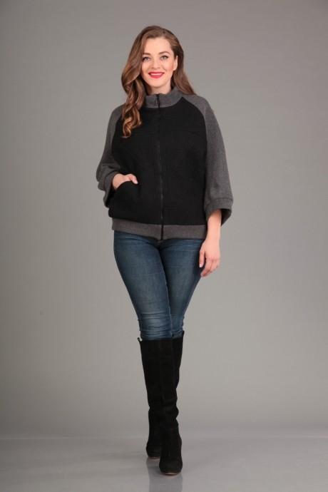 Куртка Лиона-Стиль 552 т. серый с черным