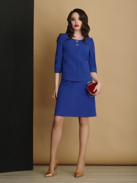 Юбочный костюм /комплект Lissana 2914 василёк