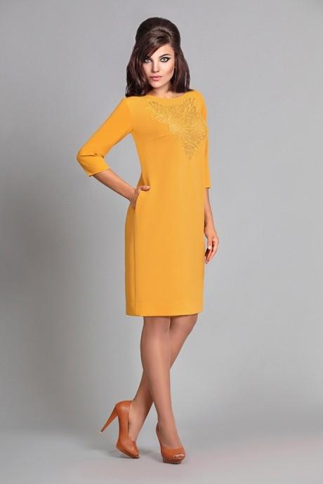 Повседневные платья Мублиз 016 горчица