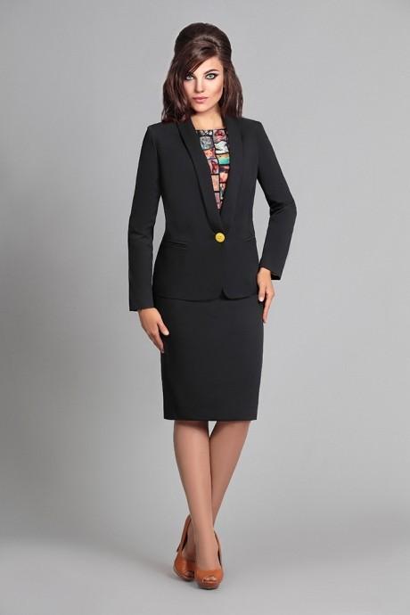 Юбочный костюм /комплект Мублиз 025 черный