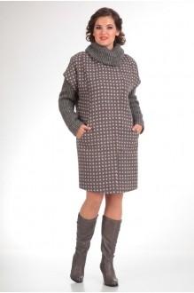 Пальто Diomant 1109 серый/розовая точка фото 2