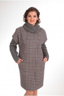 Пальто Diomant 1109 серый/розовая точка фото 3