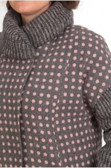 Пальто Diomant 1109 серый/розовая точка фото 4
