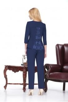 Брючный костюм /комплект Нинель Шик 229 синий фото 2