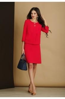Юбочный костюм /комплект Lissana 2914 красный фото 1