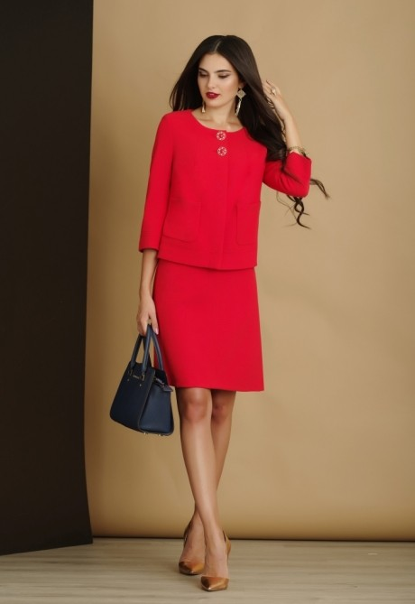 Юбочный костюм /комплект Lissana 2914 красный
