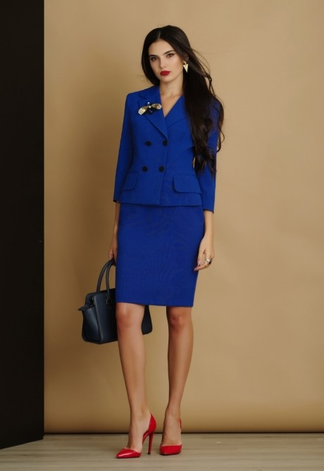 Юбочный костюм /комплект Lissana 2905 василёк