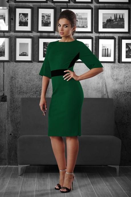 Повседневное платье Люше 1335 зеленый