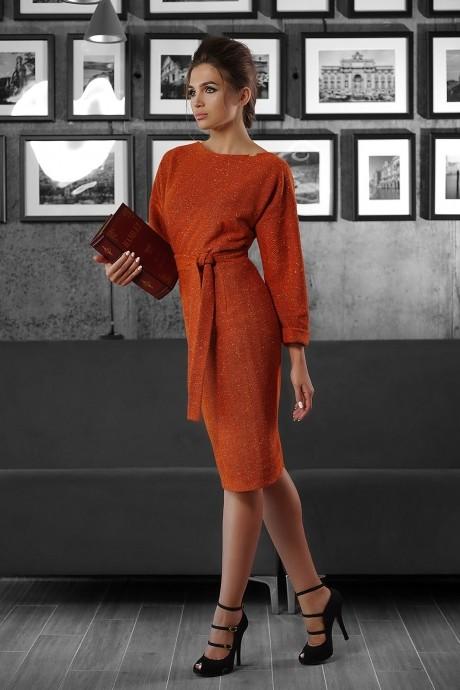 Повседневное платье Люше 1338 оранжевый