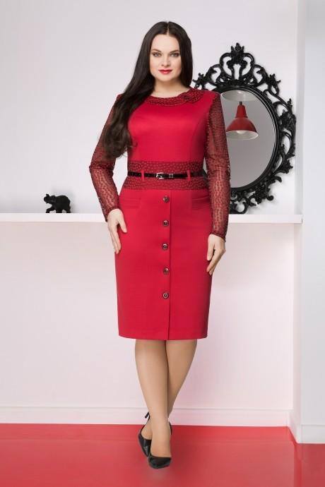 Повседневное платье LeNata 11251 малина