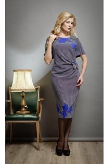 Повседневное платье SandyNa 13170 синий/точка фото 1