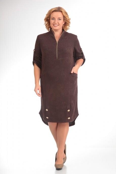 Повседневное платье Прити 473 коричневый
