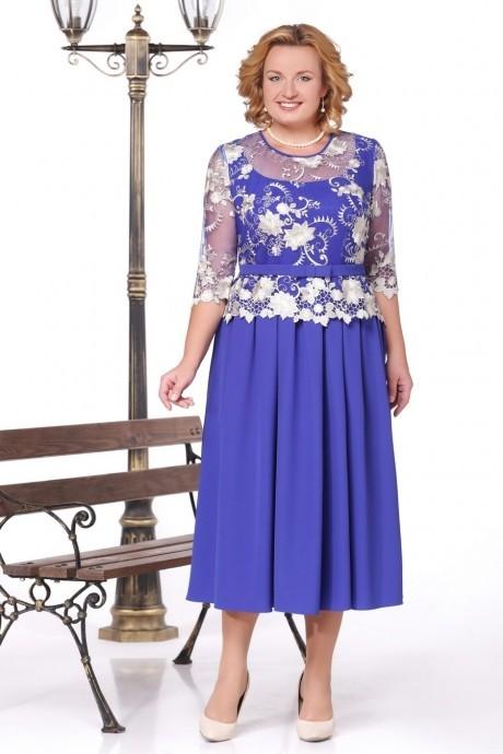 Вечернее платье Нинель Шик 5426 василек