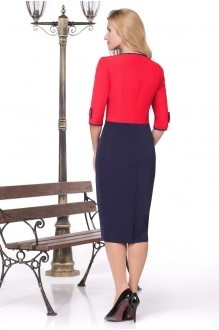 Вечерние платья Нинель Шик 5443 красный фото 2