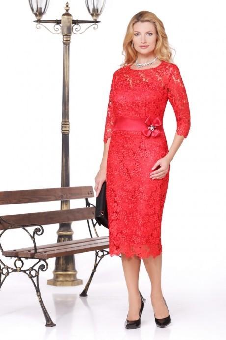 Вечернее платье Нинель Шик 5452 красный