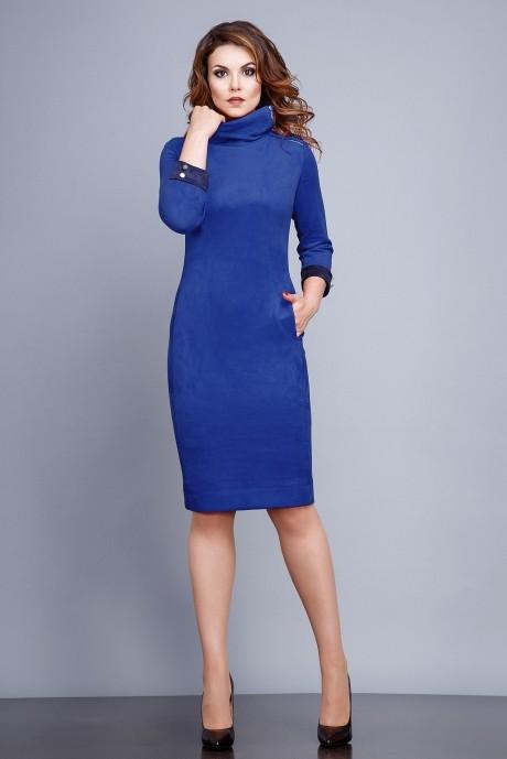 Повседневное платье Jerusi 16105 синий
