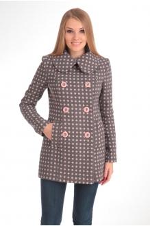 Пальто Diomant 1103 серый/розовый горох фото 2