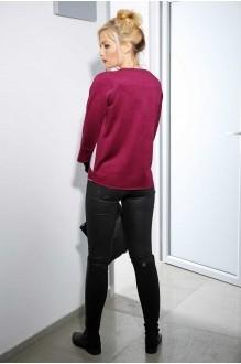 Жакеты (пиджаки) Azzara 3018Б  замша ежевичного цвета с серой отделкой фото 2