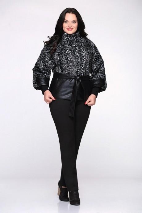 Куртка Надин-Н 1025 (3) чёрный/белый