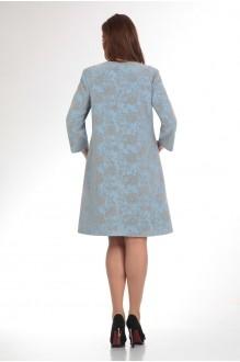 Пальто Надин-Н 1330 голубой фото 2