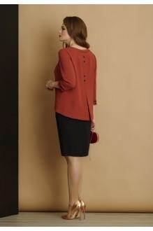 Юбочный костюм /комплект Lissana 2913 терракот/черный фото 2