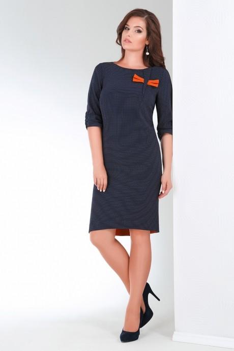 Повседневные платья Ивелта Плюс 1464 оранжевый бант