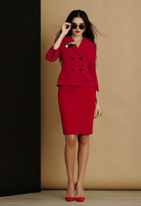 Юбочный костюм /комплект Lissana 2905 коралл