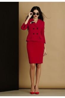 Юбочные костюмы /комплекты Lissana 2905/1 красно-коралловый фото 2