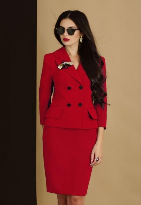 Юбочные костюмы /комплекты Lissana 2905/1 красно-коралловый
