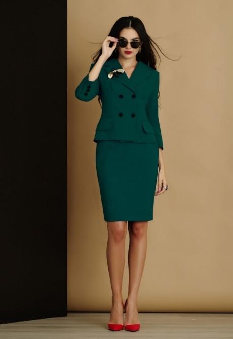 Юбочный костюм /комплект Lissana 2905 зеленый