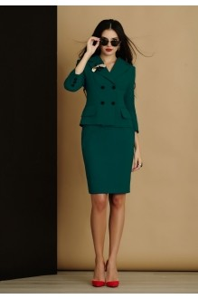 Юбочный костюм /комплект Lissana 2905/1 темно-зеленый фото 2