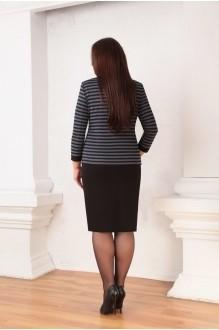 Юбочный костюм /комплект Ksenia Stylе 1332 серые полоски фото 2