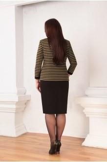 Юбочный костюм /комплект Ksenia Stylе 1332 горчичные полоски фото 2