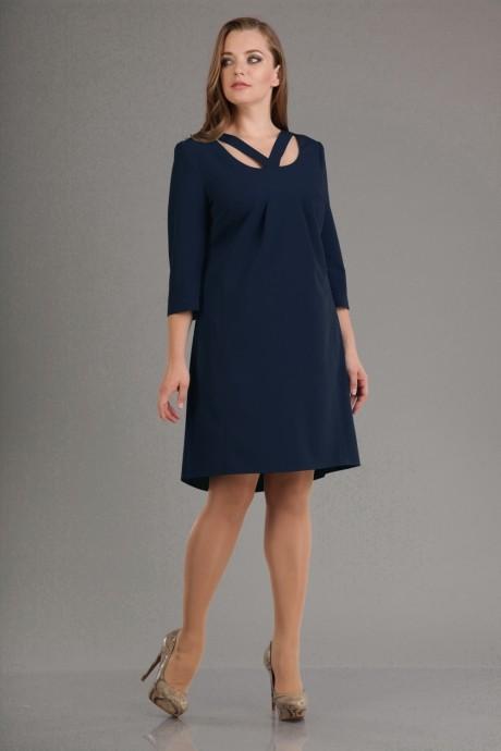 Вечернее платье Лиона-Стиль 555 т.синий