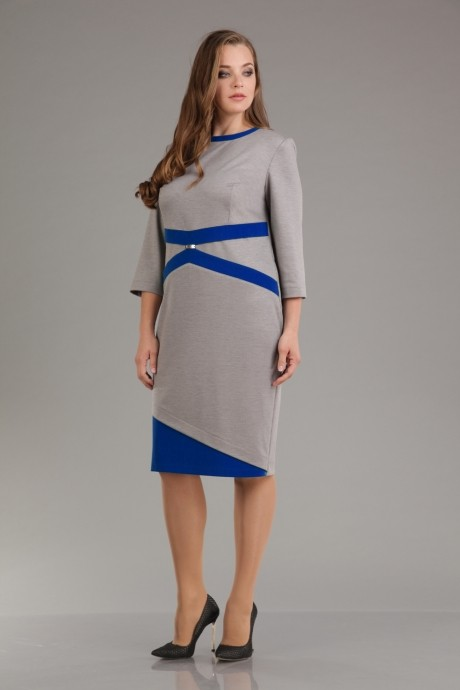 Повседневное платье Лиона-Стиль 556 с синими вставками