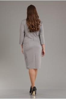 Повседневное платье Лиона-Стиль 556 бирюза+серый фото 2