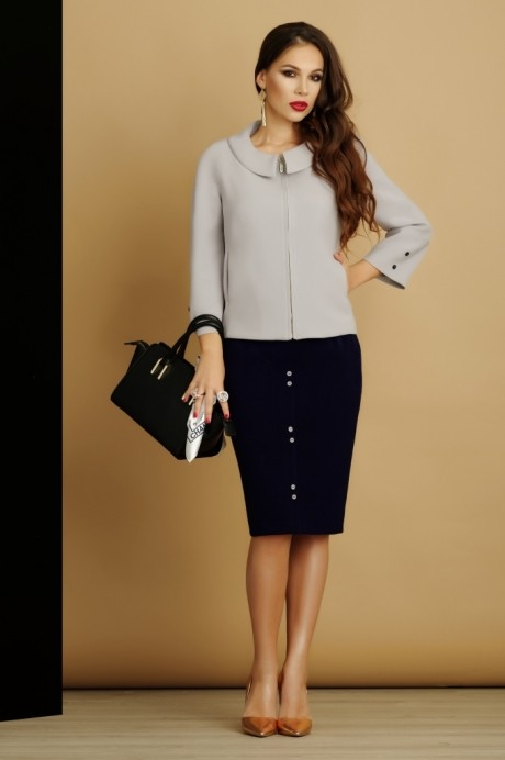 Юбочный костюм /комплект Lissana 2885 серый