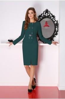 Юбочный костюм /комплект LeNata 21704 темно-зеленый фото 1