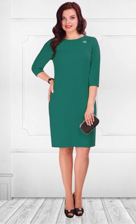 Повседневное платье Camelia 1656 зеленый