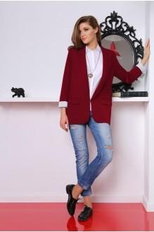 Жакет (пиджак) LeNata 11601 бордо фото 1
