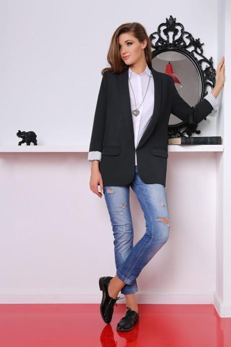 Жакет (пиджак) LeNata 11601 черный