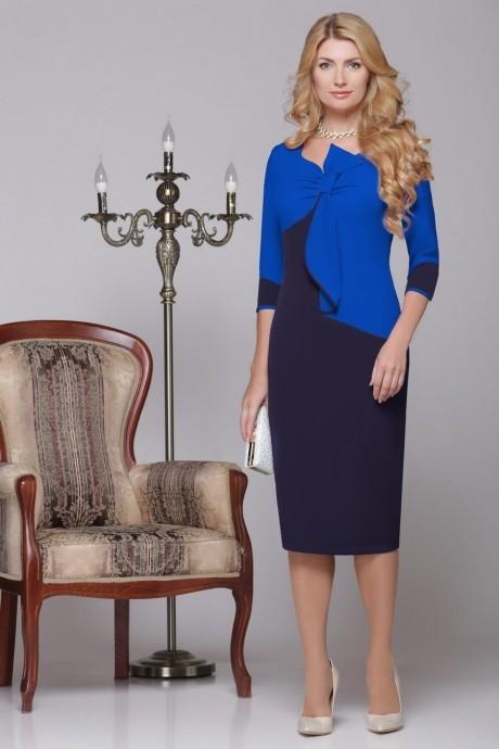 Вечерние платья Нинель Шик 5459 василек/синий