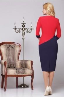 Вечернее платье Нинель Шик 5459 синий/красный фото 2