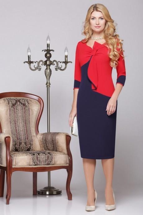 Вечернее платье Нинель Шик 5459 синий/красный