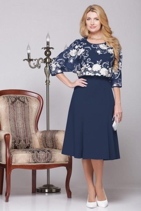 Вечернее платье Нинель Шик 5455 темно-синий
