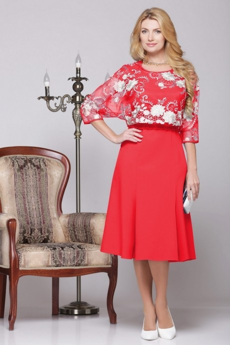 Вечернее платье Нинель Шик 5455 красный