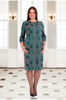 Повседневное платье Мишель Стиль 538 серо-бирюзовый фото 1