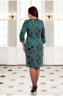 Повседневное платье Мишель Стиль 538 серо-бирюзовый фото 2