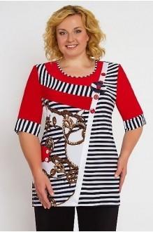 Блузки и туники Дали 298 с красным фото 1