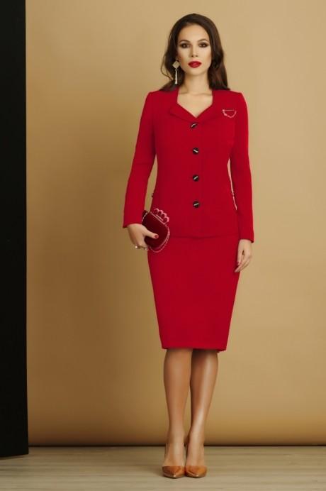 Юбочный костюм /комплект Lissana 2926 красный